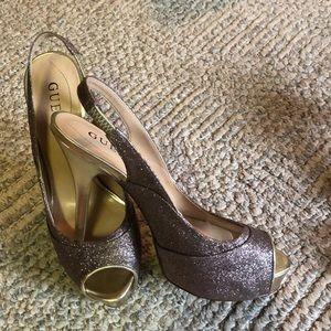 Guess multicolor sparkle heels